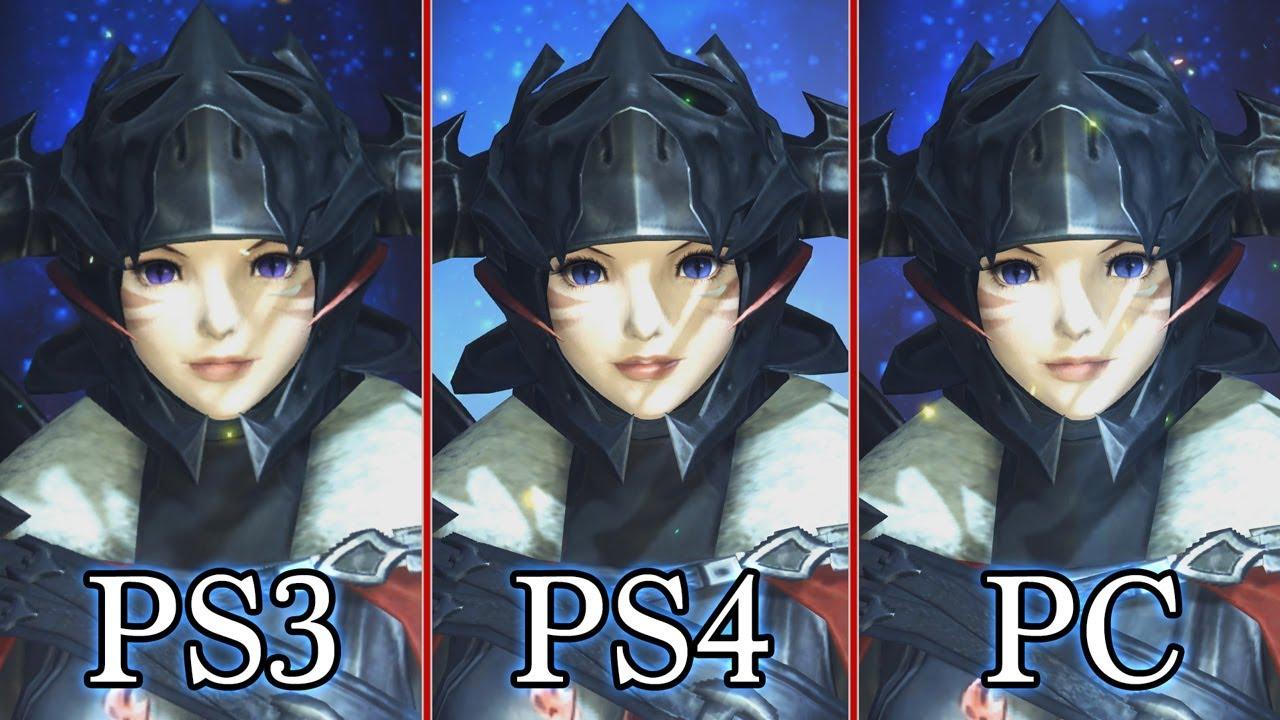 diference de textures final fantasy online